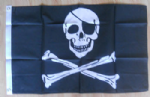 Pirate Skull and Crossbones Large Flag - 3' x 2'.